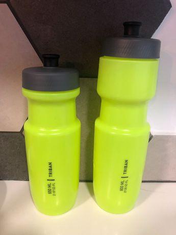 Dois Bidon Decathlon Triban 650ml e 800ml verde lima