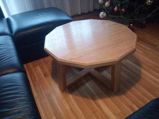 Stolik kawowy z drewna dębowego