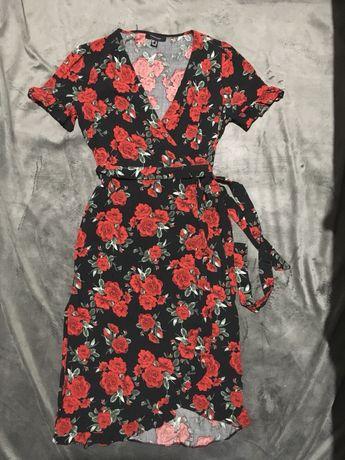 Платье atmosphere на запах нарядное, лётное с натуральной ткани