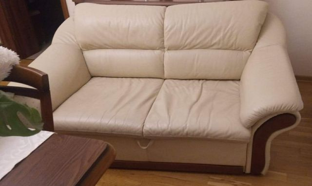 Kanapa skórzana, sofa, rozkładana
