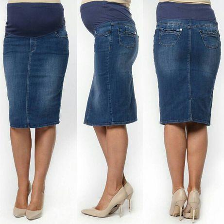 НОВАЯ джинсовая юбка для беременных