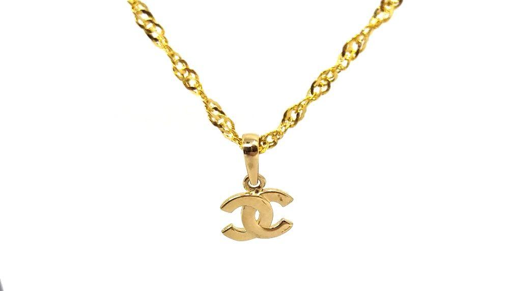 (M) Nowa złota zawieszka Chanelka 585 0,69 g Pudełko gratis Malbork - image 1