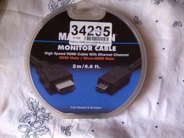 Кабель HDMI-microHDMI Manhattan 2.0m