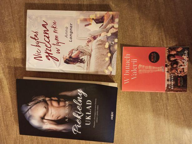 3 Książki romanse cena za komplet