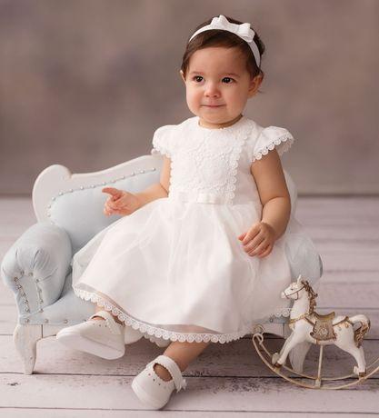 Komplet do chrztu dla dziewczynki - stan idealny !