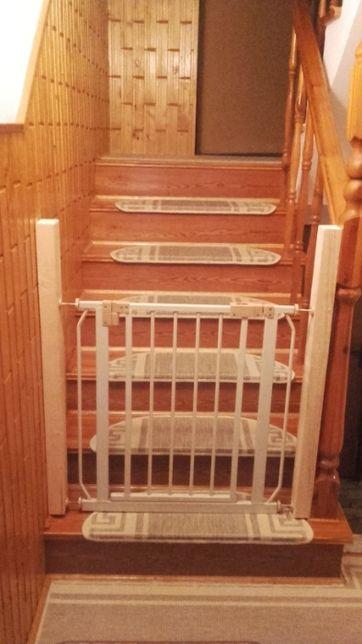 Bramka, furtka na schody, metalowa, regulowana - dwie sztuki