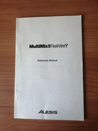 Manual original da mesa de mistura Alesis Multimix 8 Firewire