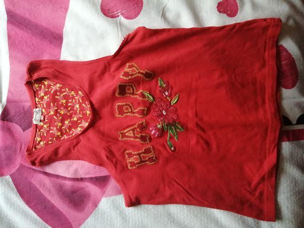 Koszulka na ramiączkach bardzo dopasowana XS, S wygodna cena 15 zł