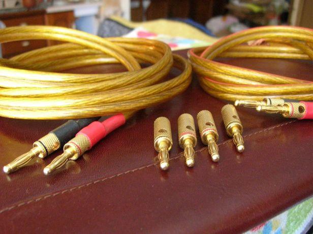 Kable przewody Klotz 0,6 cm audiofilskie HI-END złocone wtyki
