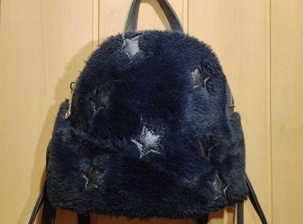 Рюкзак кожаный с мехом женский, детский
