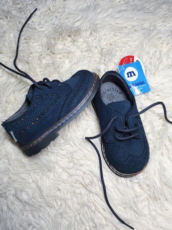 Детские итальянские туфли броги, туфельки