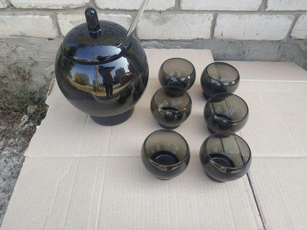 Стеклянная посуда первых блюд супа супница стекло половник стекло 6 шт