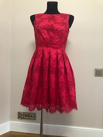 Czerwona koronkowa sukienka rozm 36