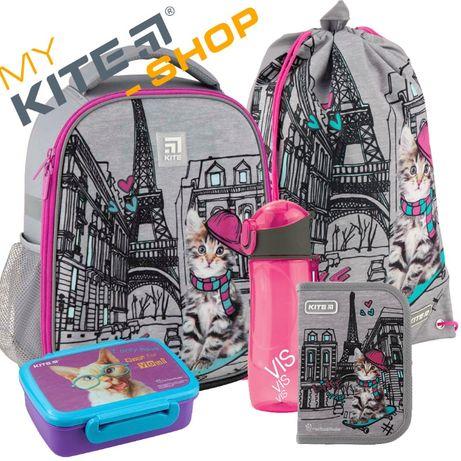 Школьный набор 4 в 1 Kite КАЙТ Рюкзак Пенал Сумка Ланчбокс Для девочки