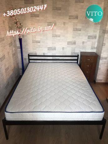 Кровать+матрас+доставка 160х200 двуспальная металлическая.