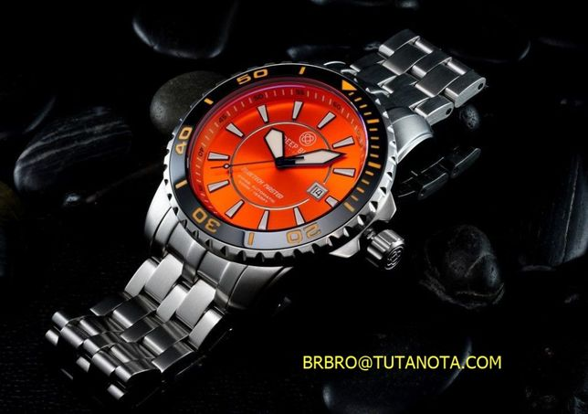 Deep Blue BLUETECH MASTER 500 Black Orange watches