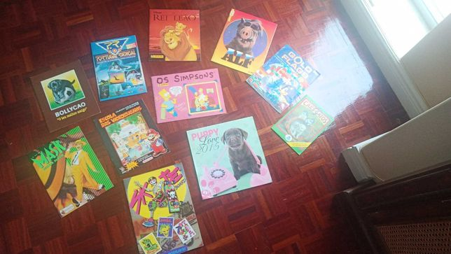 Cadernetas - Rei Leao, Skate, Simpsons, Mask, FLAGS, etc