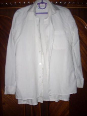 Белые рубашки на мальчика с длинным рукавом 8-12 лет