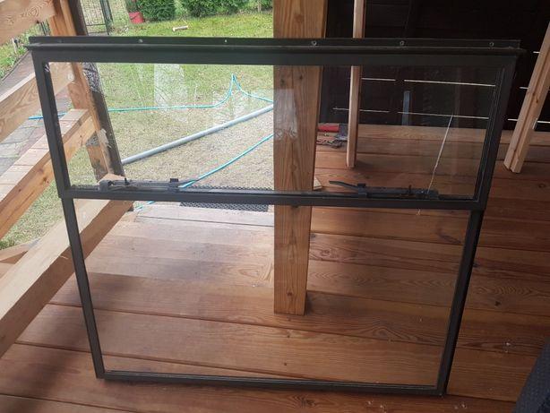 Okno aluminiowe natynkowe do przyczepy holenderskiej lub na działkę