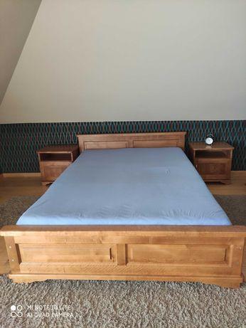 Łóżko do sypialni140x200, szafki nocne, komoda, toaletka