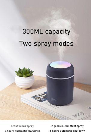 Nawilżacz powietrza Ultradźwiękowy Aromaterapia +3szt filtrow