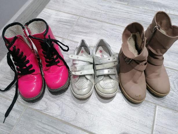 Zestaw buty jesień dziewczynka 32 botki lasocki young