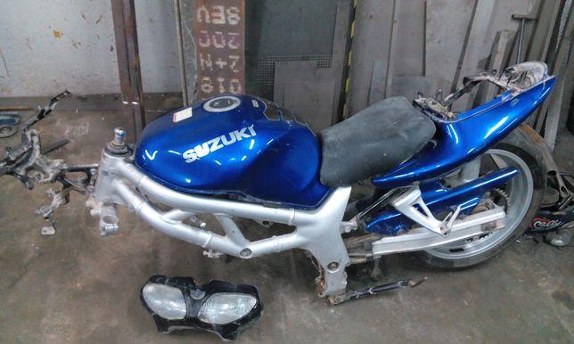 Suzuki sv 650 rama, zbiornik, koło, wahacz, głowice, cena za całość !