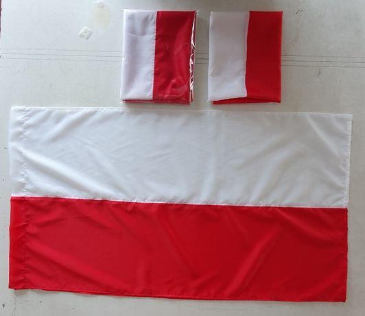 flaga Polski 70 x 110 cm szyta ze stylonu