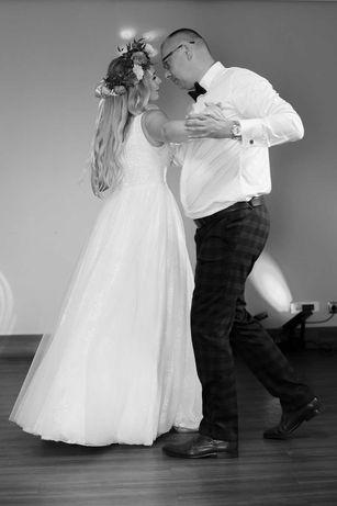 Suknia ślubna rozmiar M 38 boho styl rustykalny romantyczny