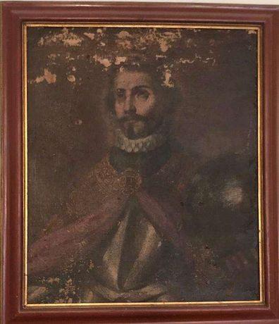 Retrato a óleo de nobre. Pintura do séc. XVIII ou XIX
