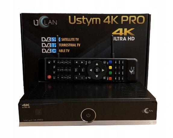 Dekoder tuner satelitarny USTYM 4K PRO Combo Enigma2 Oscam IPTV Netfli
