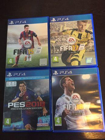 4 jogos PS4 FIFA e PES