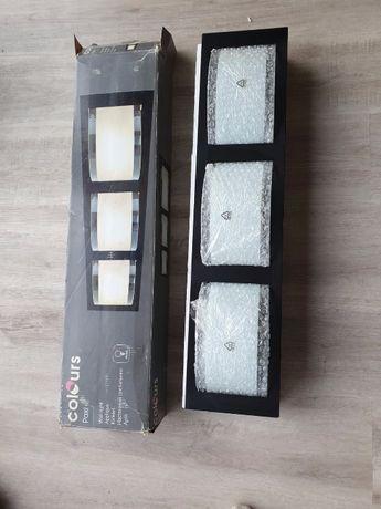 Plafon kinkiet Colours Paxi 3 x 28 W E14 matowy/czarny