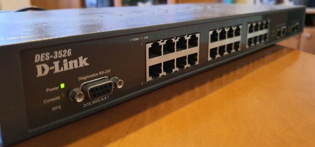 Switch d-link 24 porty - zarządzany