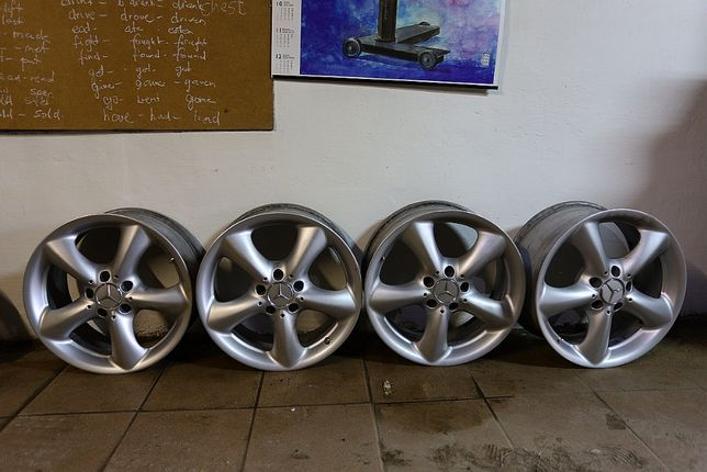 Oryginalne felgi 17' Mercedes C, E, W124, W190 + śruby gratis