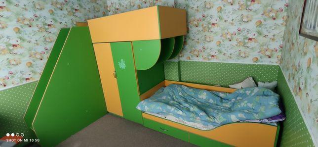 Срочно! Детская кровать.  Детская стенка для двоих. Троещина