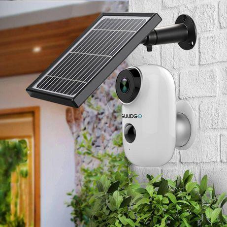 Camera Vigilância SEM FIOS Painel SOLAR Exterior WIFI 2MP Prova Agua