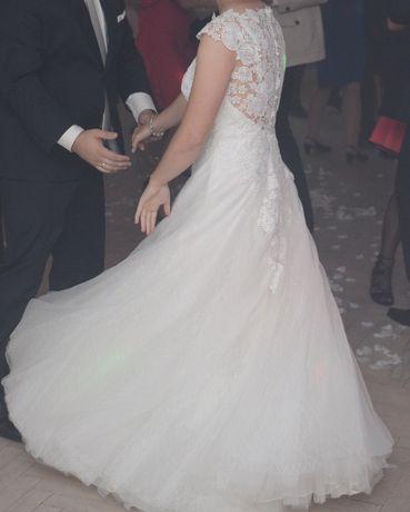 Suknia ślubna ecru, roz. 36-38
