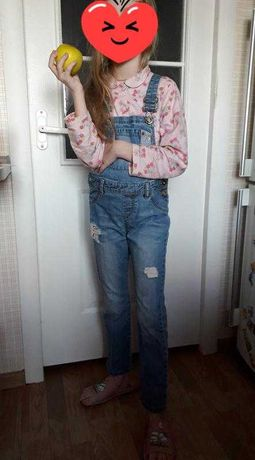 Модный джинсовый комбез для девочки lc waikiki