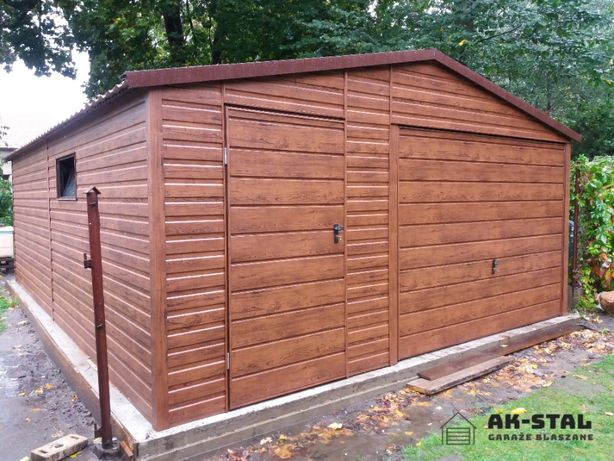 Garaż Blaszany Drewnopodobny Profil Zamknięty