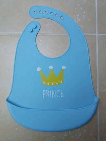 Jak NOWY Śliniak SILIKONOWY Prince KIESZONKA Książę Korona