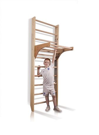 Drabinka gimnastyczna drewniana KINDER 220 cm + akcesoria