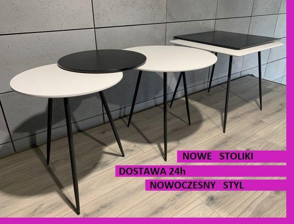 Stół stolik nowoczesny salon kuchnia biały czarny Skandynawski