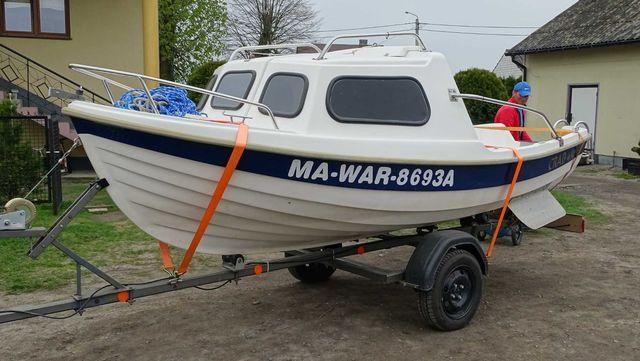 Łódka wędkarska / spacerowa silniki, przyczepa, silniki