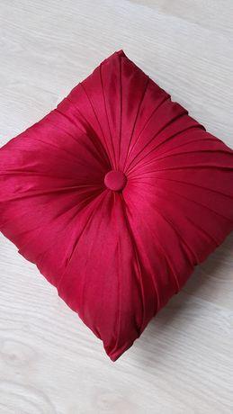 Czerwone ozdobne poduszki 27x27, 2 szt.