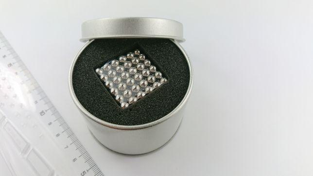 Neocube kulki magnetyczne klocki 5 mm kolor nikiel + box metal