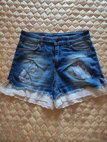 Шорты джинсовые идеальное состояние Hand Made