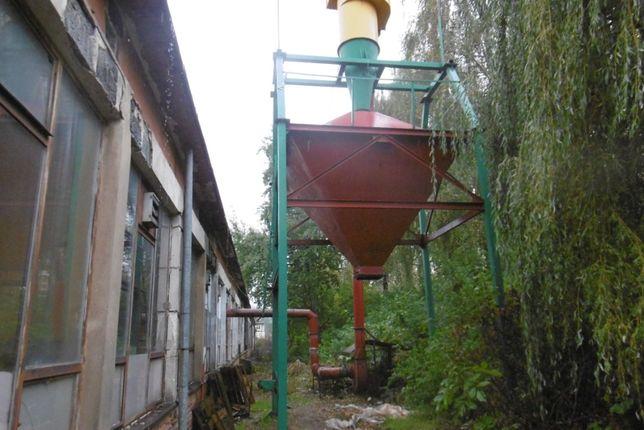 sprzedam silos na trociny + silnik + wyciąg zbiornik tartak stolarnia