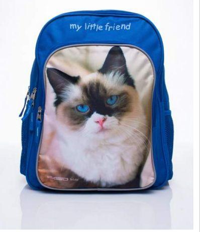 Nowy plecak z kotem