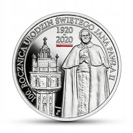 Moneta 10 zł 100. rocznica urodzin Świętego Jana Pawła II